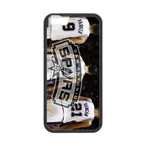 San Antonio Spurs 1 Custom Phone Case Design for iphone 6 Case with Black Laser Technology