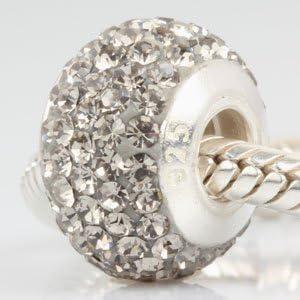 Cristal Austríaco piedra Natal colgantes con hilos Core 925cuentas de plata para pulsera de cadena de serpiente Europea diamante negro