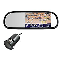 """DF Car Rearview Mirror Gps Navigation With 5""""Touch Screen, Bluetooth, Mp4,Backup Camera Function"""