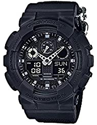 Casio G-Shock GA100BBN-1A Monotone Black Condura Series Watch