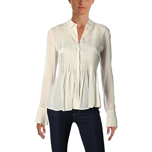Theory Women's Dionelle Shirt, C Ivory, (Ch Silk Shirt)