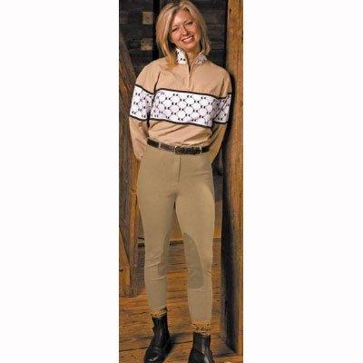 UPC 845654045676, TuffRider Women's Pull-On Knee Patch Breeches, Chocolate, 32