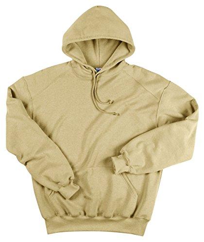 - Badger Ring-Spun Blend Pouch Pocket Fleece Hooded Sweatshirt, M, Vegas Gold