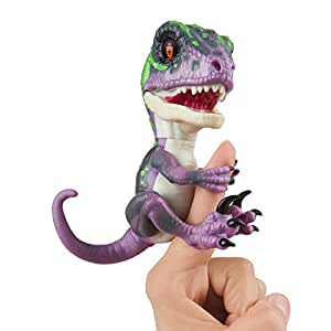 Untamed Raptor by Fingerlings Interactive Collectible Dinosaur  by WowWee Razor (Purple) Multi-Colored