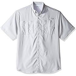 Columbia Men's Tamiami II Short Sleeve Fishing Shirt, Cool Grey, 4X