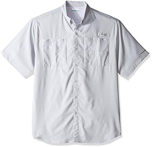 Columbia Men's Tamiami II Short Sleeve Fishing Shirt, Cool Grey, 2X