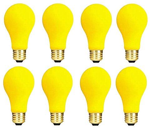 9 Yellow Bug Incandescent Medium Base Light Bulb (Yellow Incandescent Light Bulb)