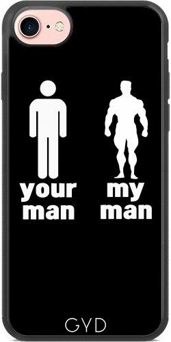 Coque Silicone pour Iphone 7 / Iphone 8 - Votre Homme Vs Mon Homme by wamdesign