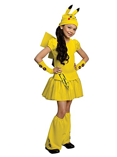 Costumes Children's Halloween Pokemon (Pokemon Child's Pikachu Costume Dress,)