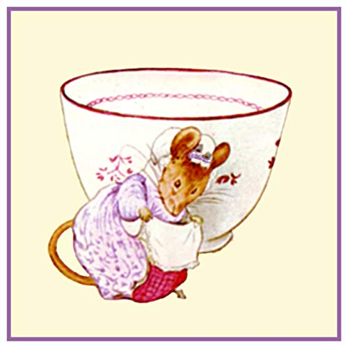 (Lady Mouse Tea Cup Inspired by Beatrix Potter Counted Cross Stitch)