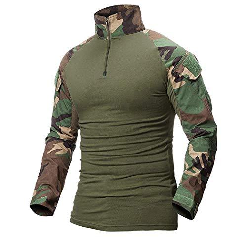 ShallGood Homme Chemises Combat Militaire Airsoft BDU Shirt Tenue Camouflage Uniforme Tactique Séchage Rapide avec… 1