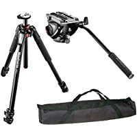 Manfrotto MT055XPRO3 / MVH500AH Professional Video Tripod Kit and a 35 Padded Case