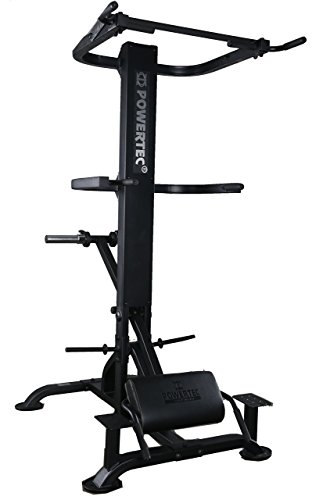 Powertec Fitness Levergym Chin/Dip Assist – Plus Black