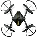 Owill JJRC H44WH Elfie Foldable Pocket Drone Mini FPV Quadcopter Selfie 720P WiFi HD Camera Helicopter (Black)
