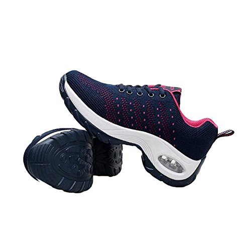 Ladies Fitness Breathable Shoes Shoes Casual Fashion Hiking Walking Women Shoes Blue Waterproof rrqFnOfZz