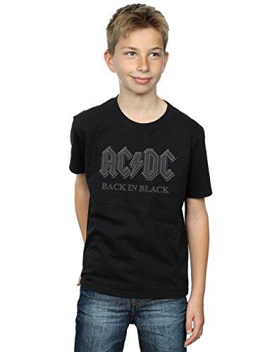 AC/DC Boys Back in Black T-Shirt 12-13 Years (Ac Dc Crew T-shirts)