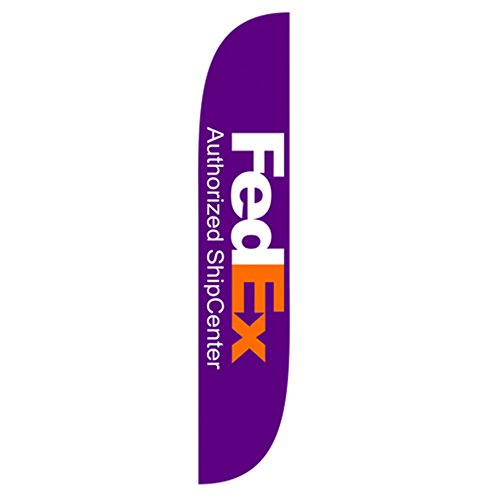 LookOurWay FedEx Authorized Ship Center Feather Flag, 12' by LookOurWay