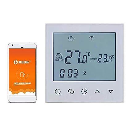 Termostato inalámbrico de Beok TDS21-EP para calefacción de suelo radiante, digital, programable