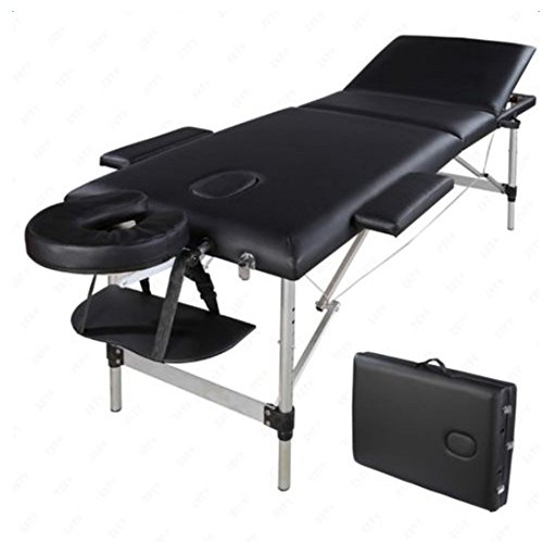 Teeker Massage Table Portable Massage Bed 3 Folding Aluminium Frame Lightweight Height Adjustable Salon Spa Table