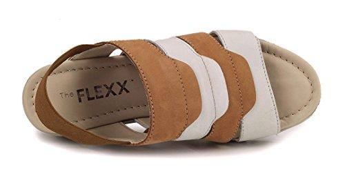 Plataforma The Mujer De Emis Flexx Marrone Sandalia K wnn6XzxPq