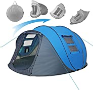 Weanas Easy Pop Up Tents, Instant Automatic 4 Person Family Camping Tents Easy Quick Setup Dome Popup Tents fo