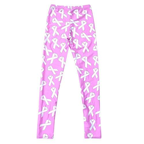 Leggings Donna Flower A Pink Fashionable Pantaloni Printed Matita Da Targogo Sportivi Elasticizzati Stretch Running g6xqpdn