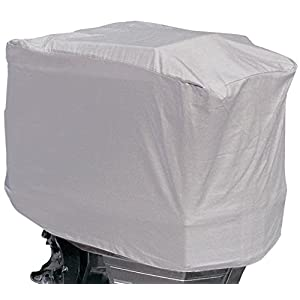 """Boss Accessories Shore Guard Polyester Waterproof Outboard Motor Hood Cover, 25-50HP, 23"""" L x 17"""" H x 16"""" W, Livid"""