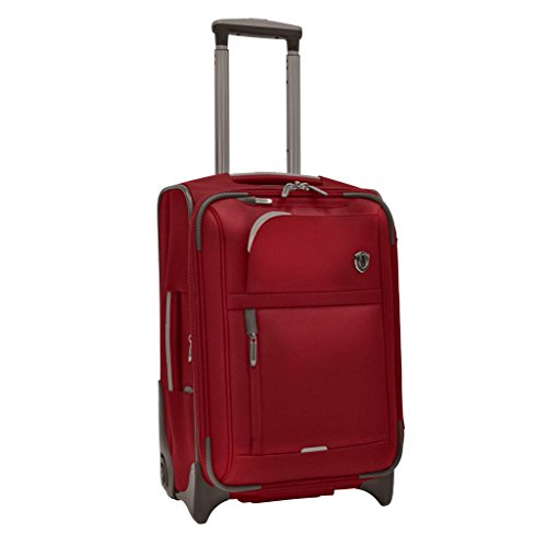 Travelers Choice 21 Inch - Traveler's Choice  Birmingham Lightweight Expandable Rugged Rollaboard Rolling Luggage - Red (21-Inch)