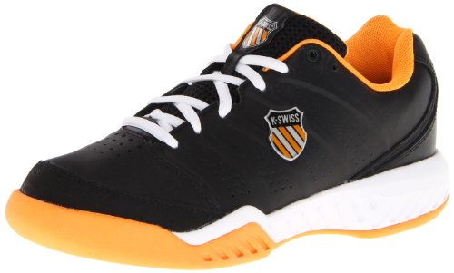 K-Swiss Men's Ultrascendor II Tennis Shoe,Black/Neon Orange/White,6.5 M US