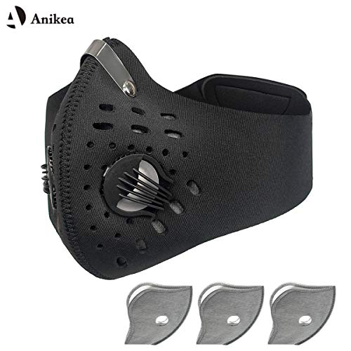 (Sports Mask, Anti-Pollution Dust Half-Face Cycling Motorcycle Running Hiking Climbing Training Fitness City Mask with Activated Carbon Layer for Women& Men )