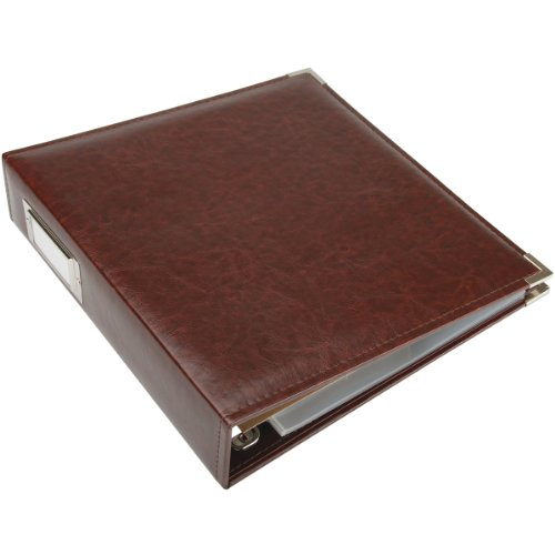 We R Memory Keepers Faux Leather 3-Ring Album -  8.5 x 11 inch, Cinnamon (Binder Memories)