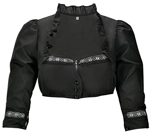 Dirndl Blouse Traditional Blouse Liv in Black 42 -