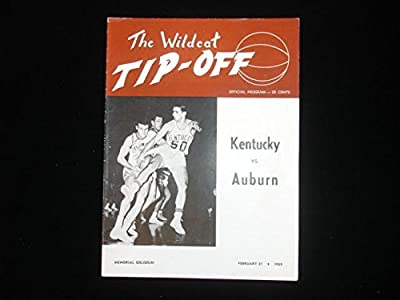 February 21, 1959 U of Kentucky vs. Auburn University Basketball Program Ex+