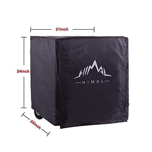 Himal Weather/UV Resistant Generator Cover 25 x 24 x 21 inch,for Universal Portable Generators 2200-5000 Watt, Black by Himal Outdoors (Image #1)