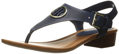 Tommy Hilfiger Women's Kandess Dress Sandal, Navy, 9 M US (Tommy Hilfiger Navy Blue Sandals)