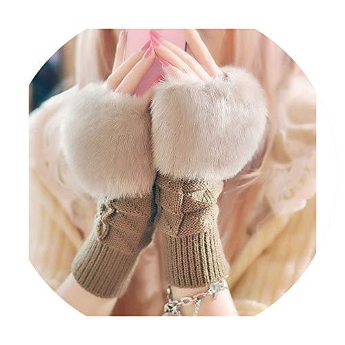Fashion Wrist Crochet Knitted Fingerless Gloves Knitting Mittens Winter Autumn Warmer