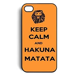 Keep Calm and Hakuna Matata Tribal Pattern Snap On Case Cover for Apple iphone 5 5s