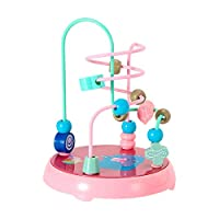 Tuu Baby Activity Cube Toys Beads Maze Roller Coaster New Children Baby Colorful Smooth ABS Mini Around Beads Educational Game Toy