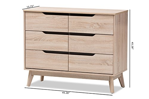 Baxton Studio 424-7702-AMZ, 3-Drawer