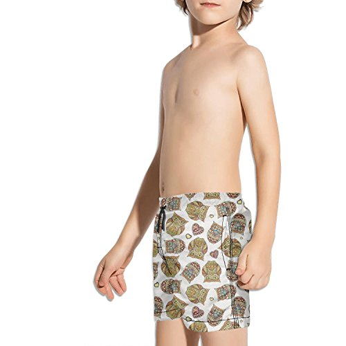 Cute Vintage Barred owl Love Quick Dry Boys¡¯ Beach Board Shorts by truye rrelk (Image #2)