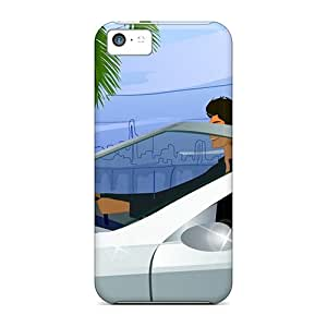 New Premium Flip Cases Covers 3d Leisure Tourism Skin Cases For Iphone 5c Black Friday