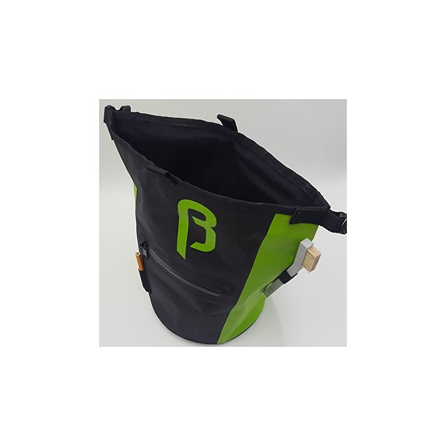 BetaLabs Buck It Premium Chalk Bucket Stand Bag For Climbing, Bouldering, Weightlifting & Gymnastics
