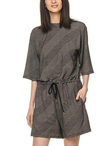 dr-denim-jeansmakers-womens-aurora-womens-black-striped-playsuit-in-size-s-black