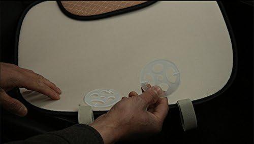 Haosen Sitzauflagen Auto Sitzkissen Autozubehör Sitzbezüge Dreidimensionale Eisseide Material Bequem Und Atmungsaktiv Vier Jahreszeiten Können Genutzt Werden Beige Auto