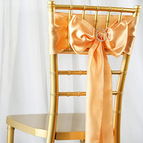 Mikash 5/PK ~New~ Satin Chair Sash Bow Wedding Party Banquet 20+ Colors! | Model WDDNGDCRTN - 19622 |