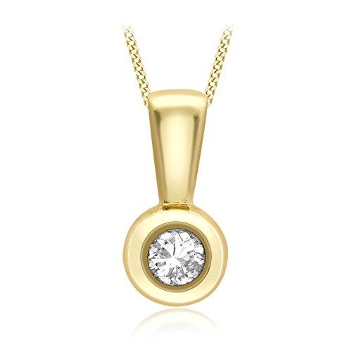 Carissima Gold - Collier - Femme - Or Jaune 375/1000 (9 cts) 1.28 gr - Diamant - 46 cm