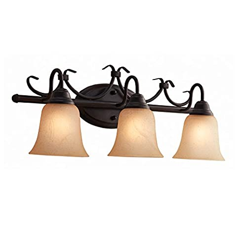 Portfolio Stone hollow 3-Light 9.5-in Bronze Vanity Light Bar ...