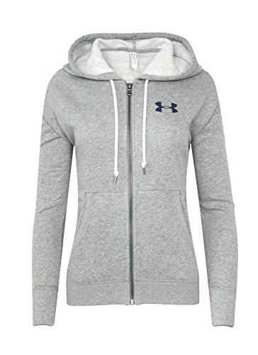 Under Armour Women's UA Athletic FULL ZIP Hoodie SHIRT light grey/ purple (M)