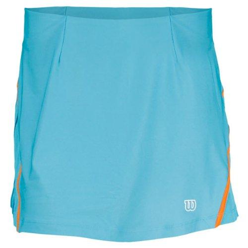 Wilson Falda de pádel para mujer, tamaño L, color oceana/naranja: Amazon.es: Ropa y accesorios