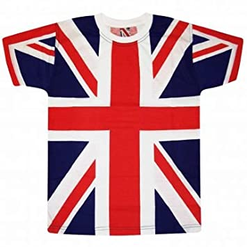 Union Jack Flag All Over Print TShirt Amazoncouk Sports